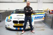 Rob Collard with the West Surrey Racing BMW 125i he will race in this year's championship