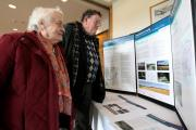Ada Wakefield and Ivan Perryman examine plans for the new critical treatment hospital