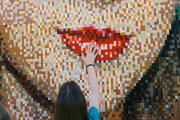 There's a giant Taylor Swift mosaic made out of Lego bricks