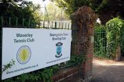 The entrance to Basingstoke Town Bowling Club in Fairfields Road