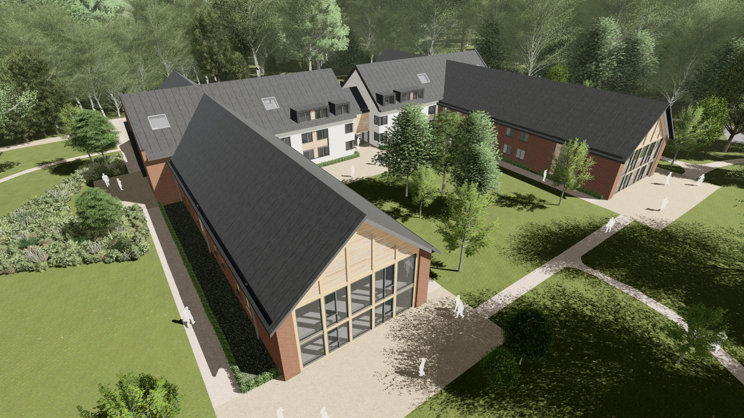 An artist's impression of how the new Sherfield School building will look
