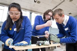 Schoolchildren take part in engineering challenge