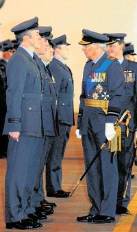 The Duke of Gloucester meets members of 27 Squadron at RAF Odiham