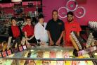 In the centre are Sue and Waheed Zafaree with some of their Sundaes Gelato team