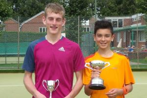 Young tennis stars win county titles