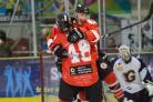 Kurt Reynolds celebrates his overtime winner against Guildford