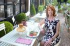 Jane Asher in the West Green House tea room