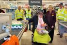 Cllr David Leeks at the checkout in Sainsbury's