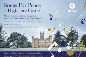 Famous castle to host event for Oxfam Syria Crisis Appeal