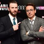 Basingstoke Gazette: Robert Downey Jr and Chris Evans visit Avengers fan with cancer