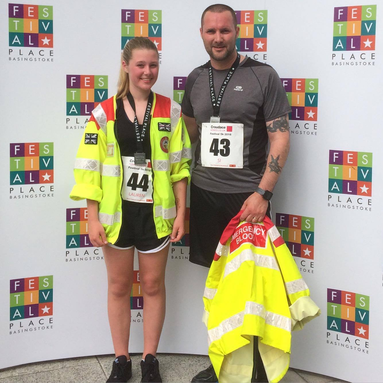 Father and daughter raise money for blood transportation charity following near-death crash
