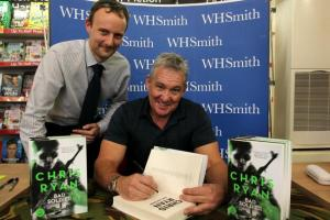 Famous SAS soldier signs books in WH Smith in Winchester