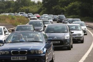 Traffic could build up - particularly on the A303 this weekend