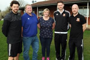 Couple's mammoth challenge to support football club