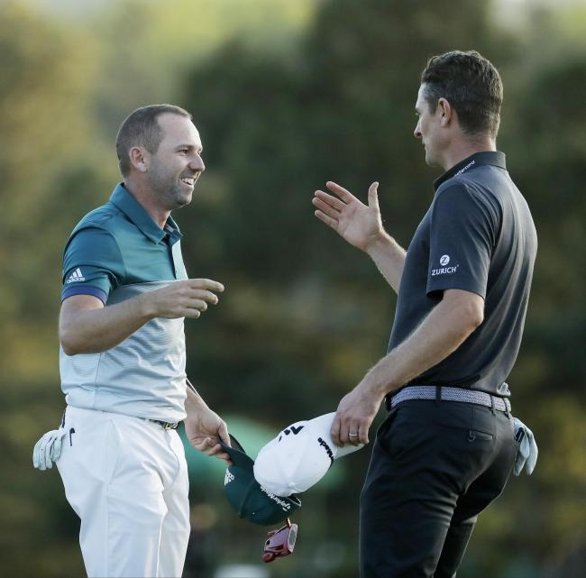 Justin Rose and Sergio Garcia