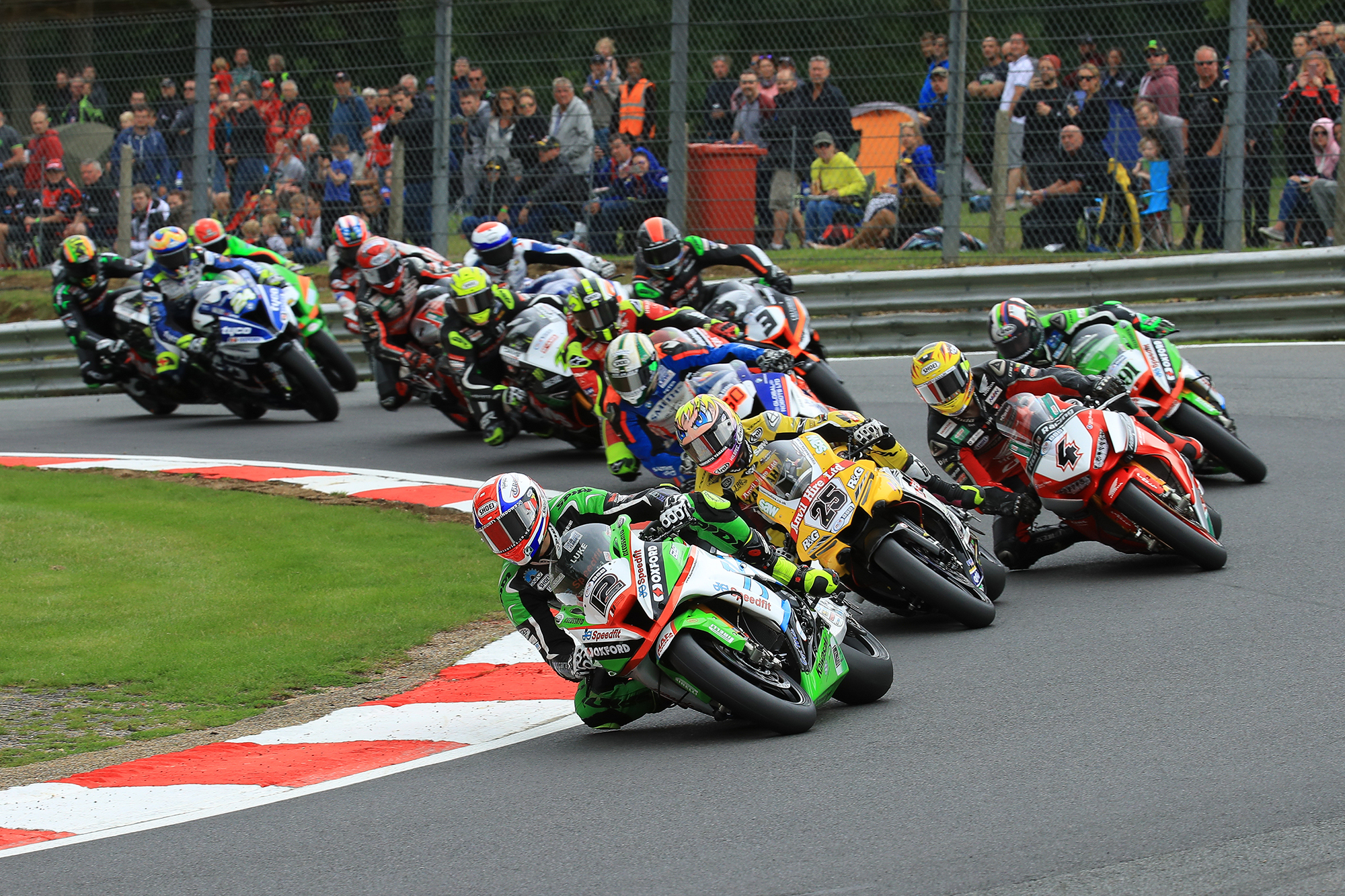 Superbikes in action