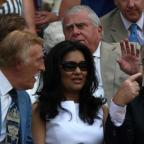 Basingstoke Gazette: Bruce Forsyth (left), his wife Wilnelia and Jimmy Tarbuck (right) during Day Three of the 2010 Wimbledon Championships at the All England Lawn Tennis Club, Wimbledon (PA)
