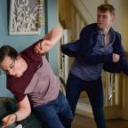 Basingstoke Gazette: EastEnders' Jay Brown and Ben Mitchell to lock fists in explosive fight (Kieron McCarron/BBC)