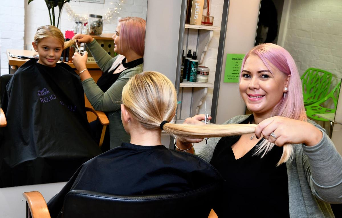 Sophia Payne Gets Haircut For The Little Princess Trust