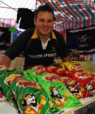 Riccardo Zappia sells South African produce from his new stall in Market Place, Basingstoke
