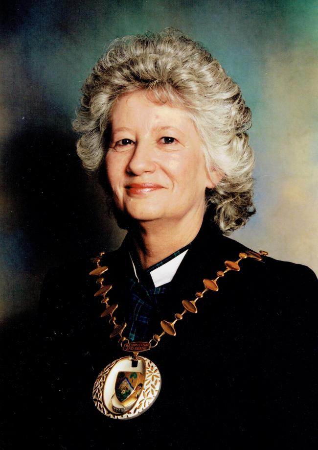 Cllr Rita Burgess during her time as mayor of Basingstoke and Deane
