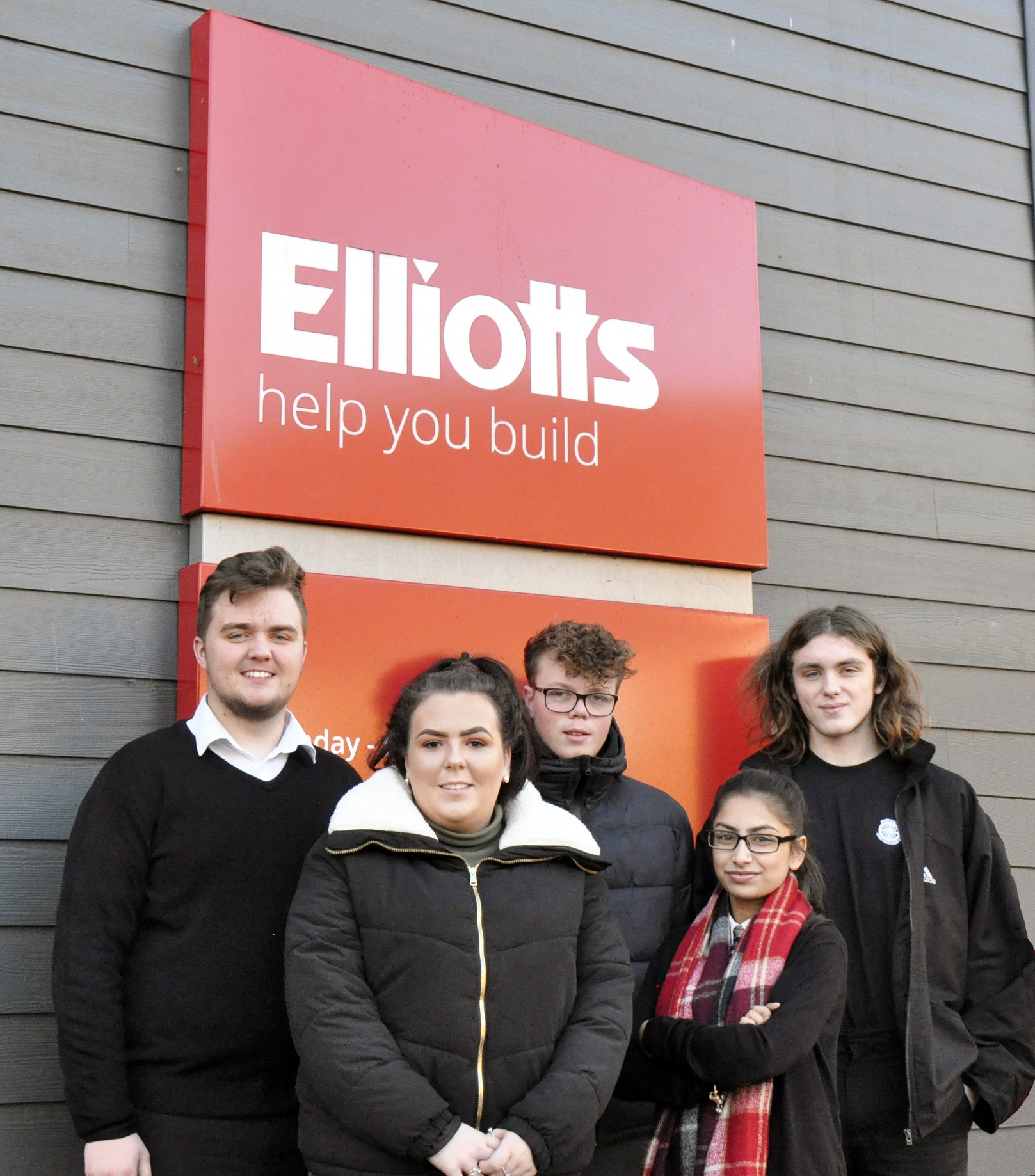 Five of the six new apprentices, from left to right: Jack Arnold – Ringwood & Fordingbridge, Mollie Oram – Tadley, Jack Bailey – Southampton, Karamjit Potiwal – Southampton Sales Hub and Calum Budge – Romsey