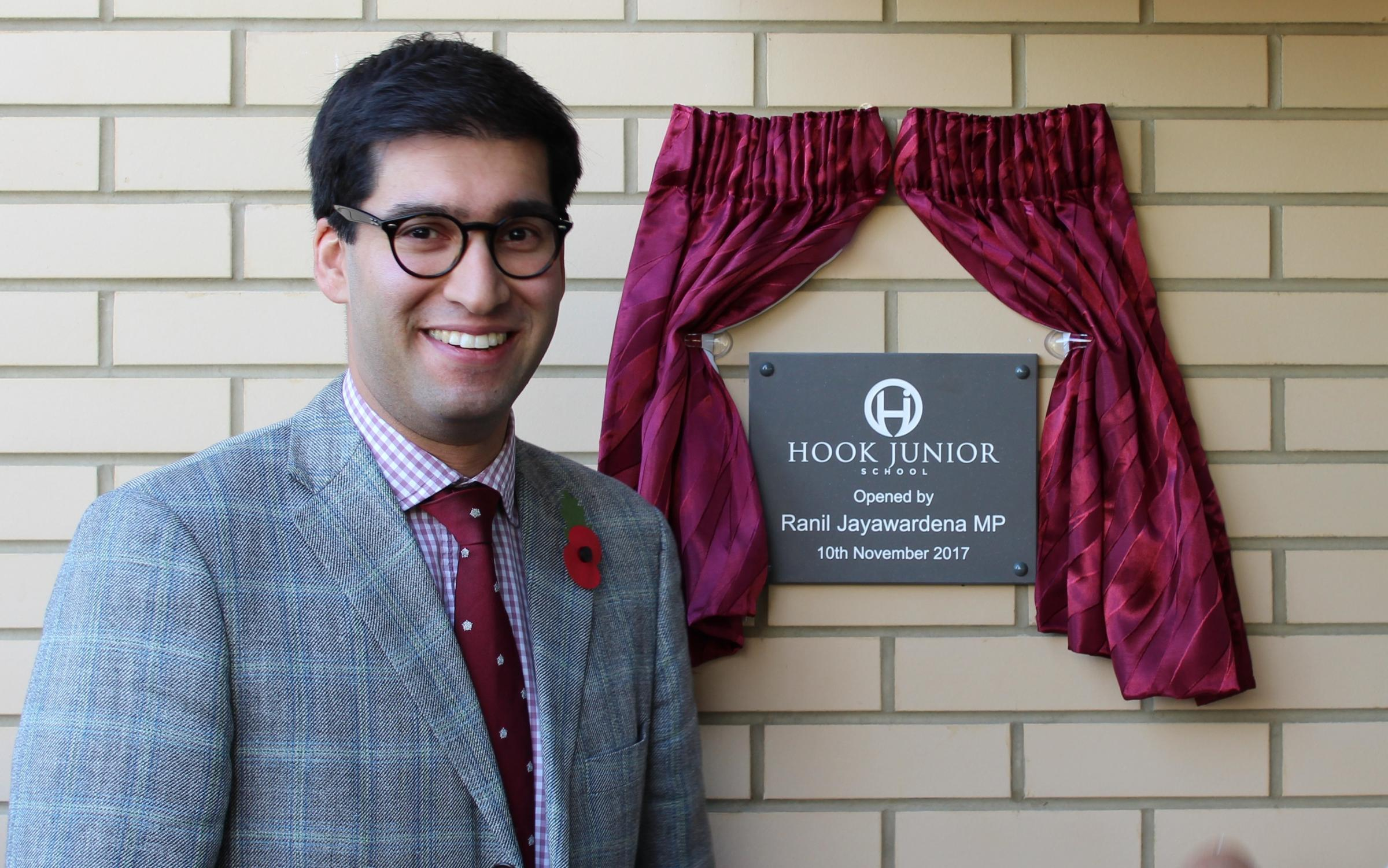 The new building was opened by Ranil Jayawadena, MP for North Hampshire