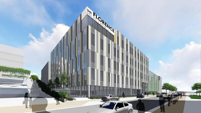 Artist impression of what the Florence Building will look like