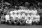Lined up at Murrayfield, Edinburgh, members of the England rugby union international squad who beat Scotland 30-18 in 1980 (PA Archive)