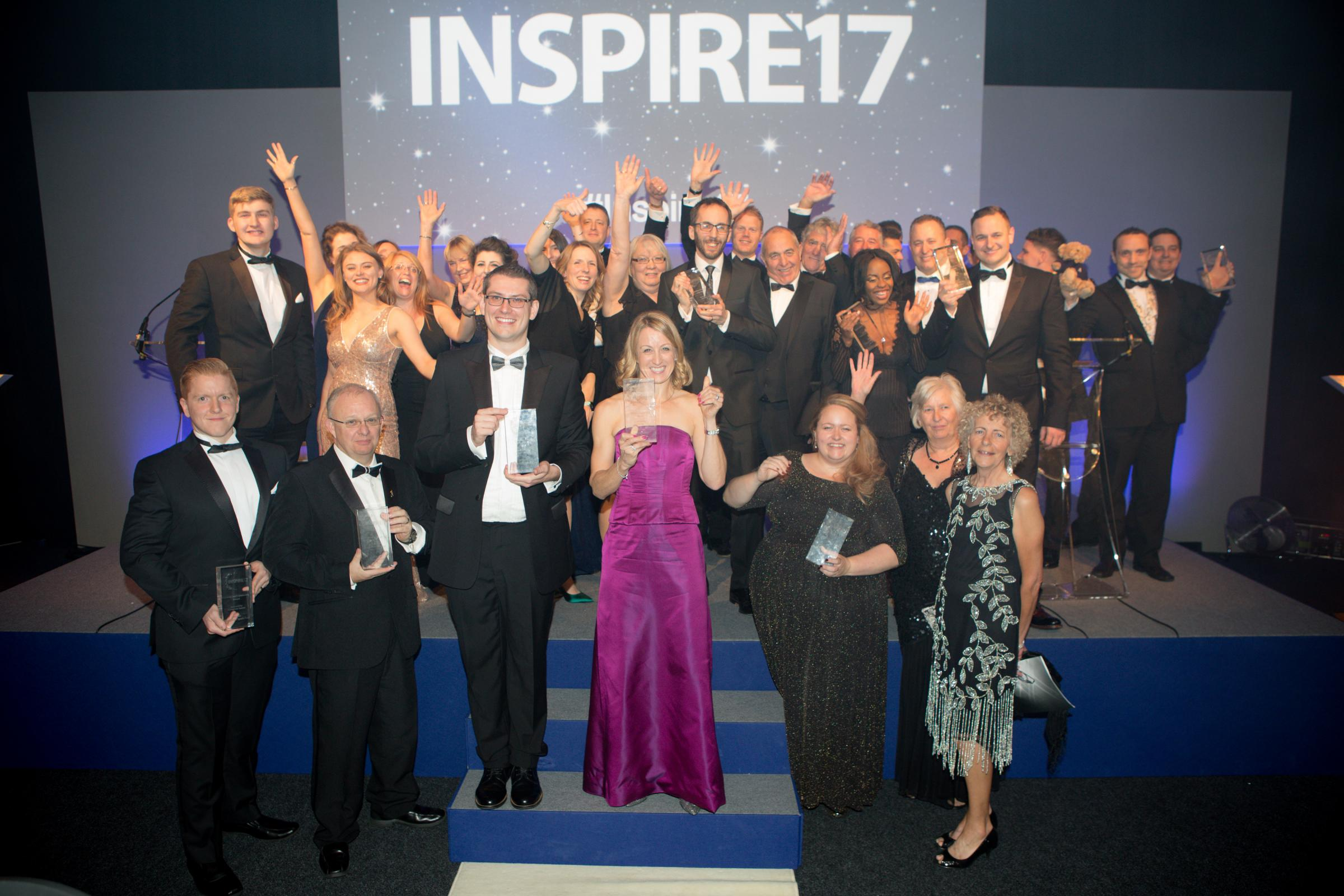 Winners at the 2017 INSPIRE awards