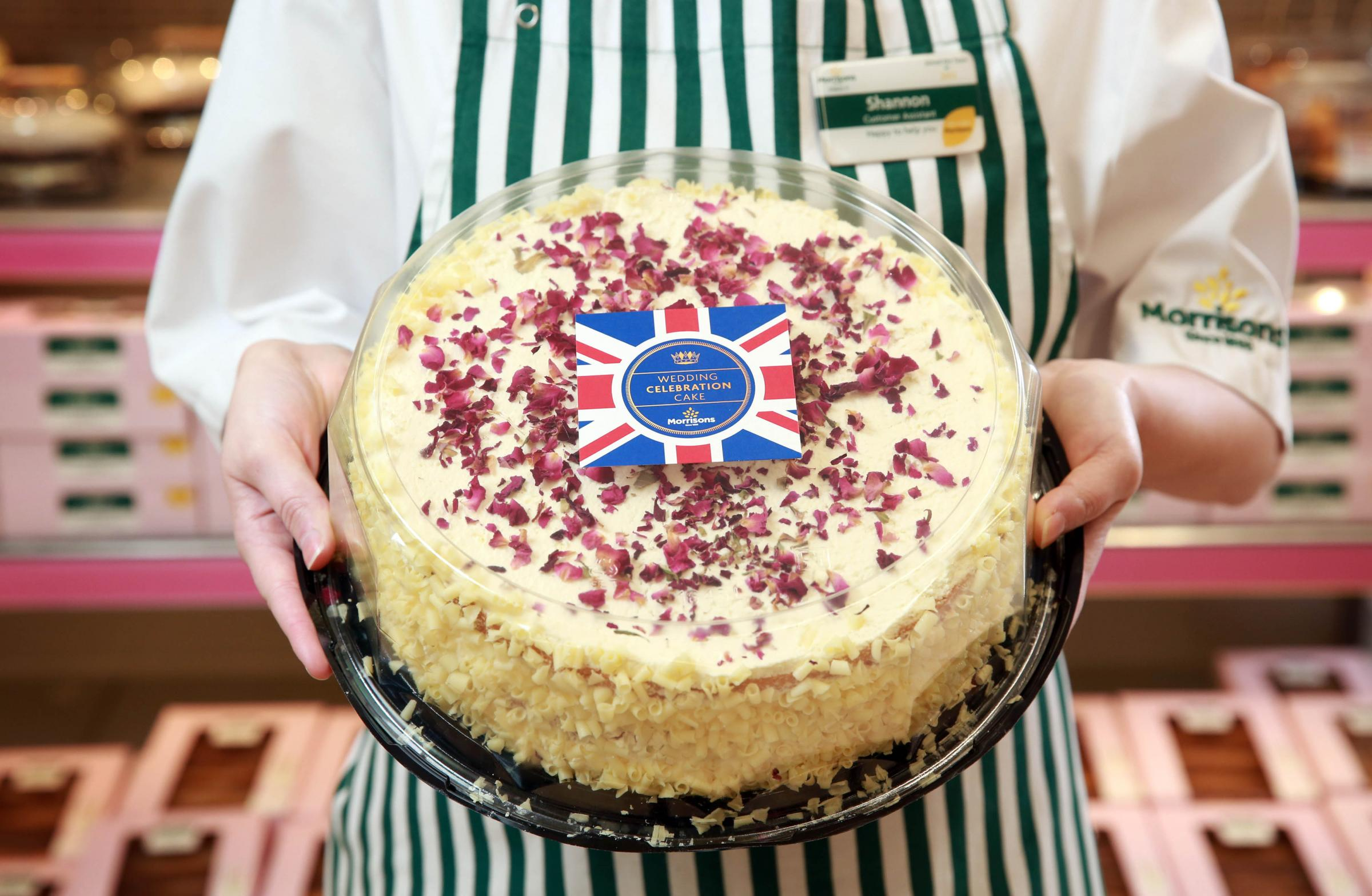 The cake sold by Morrisons for the royal wedding between Prince Harry and Meghan Markle