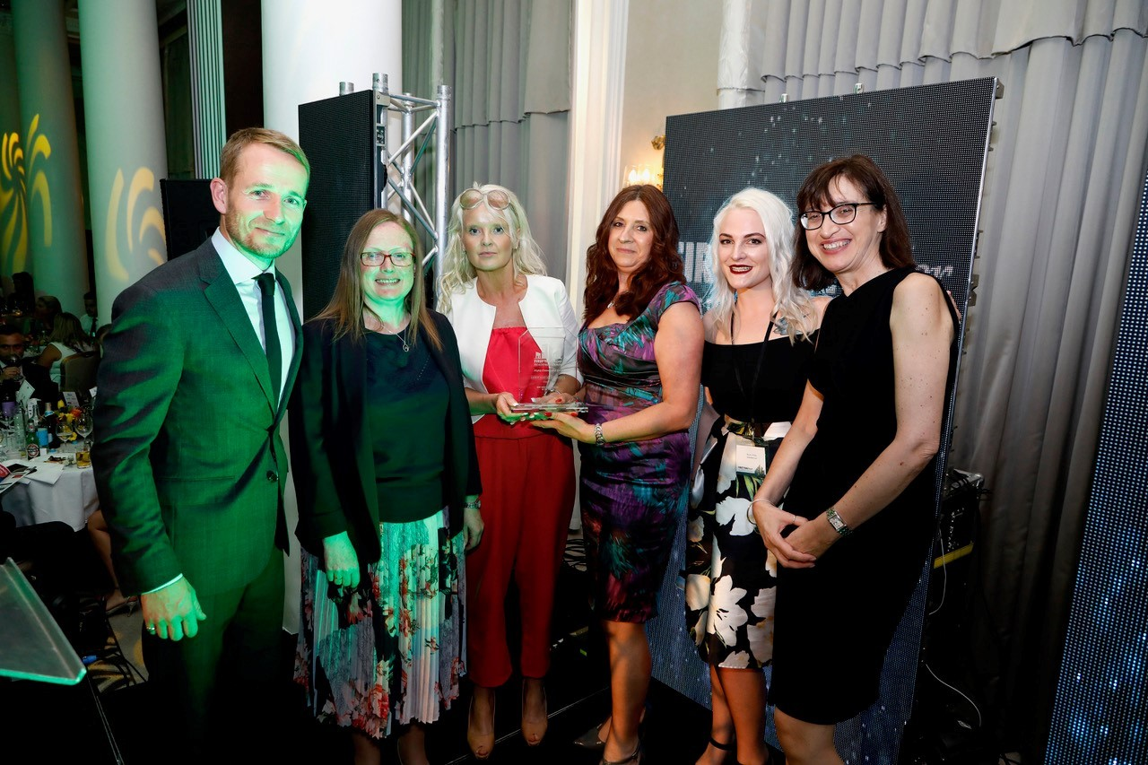 Chapel Gate team get their award at the First Time Buyers Awards