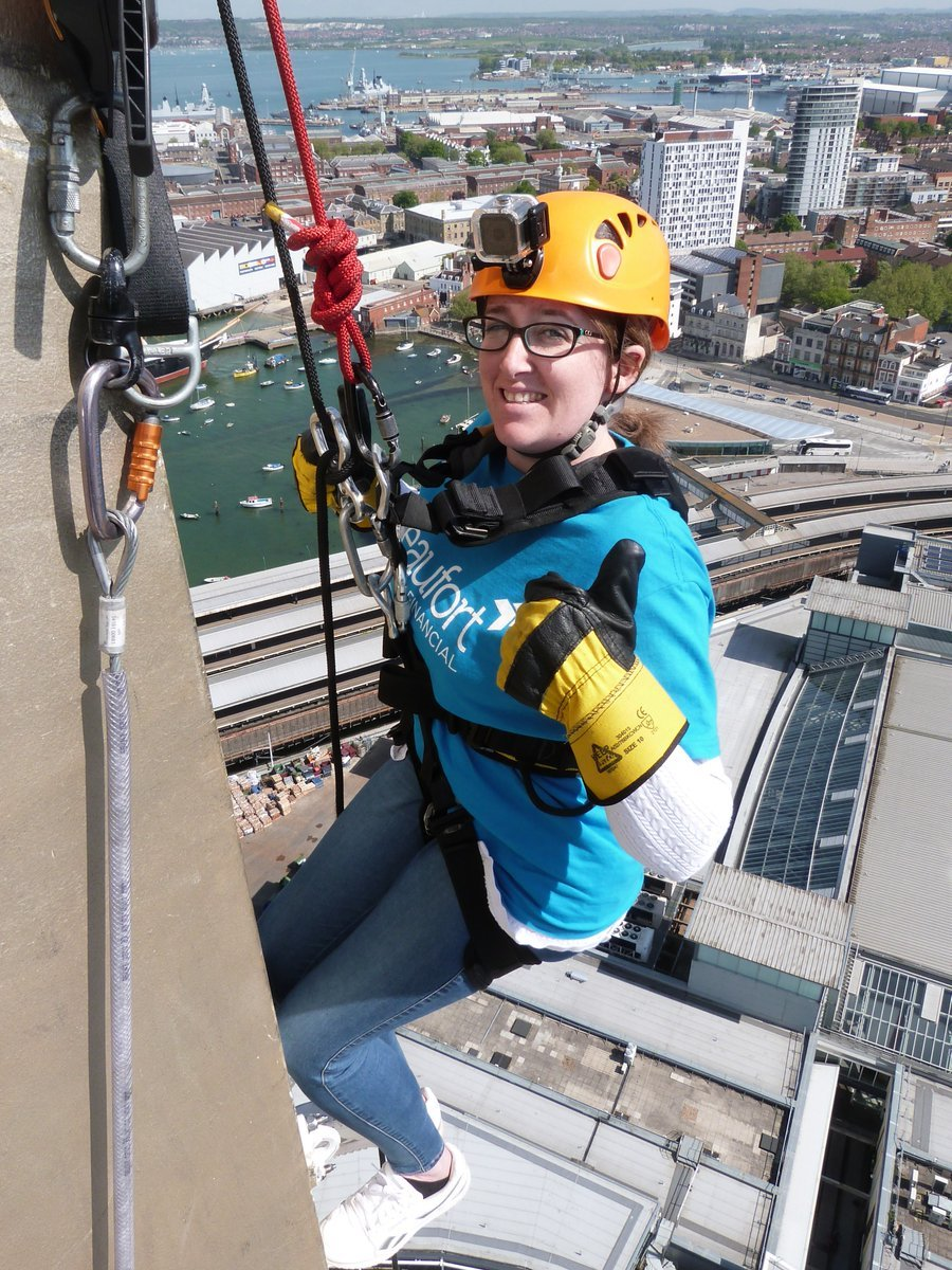 Abseil down the Emirates Spinnaker Tower for the Ark. May 13 2018