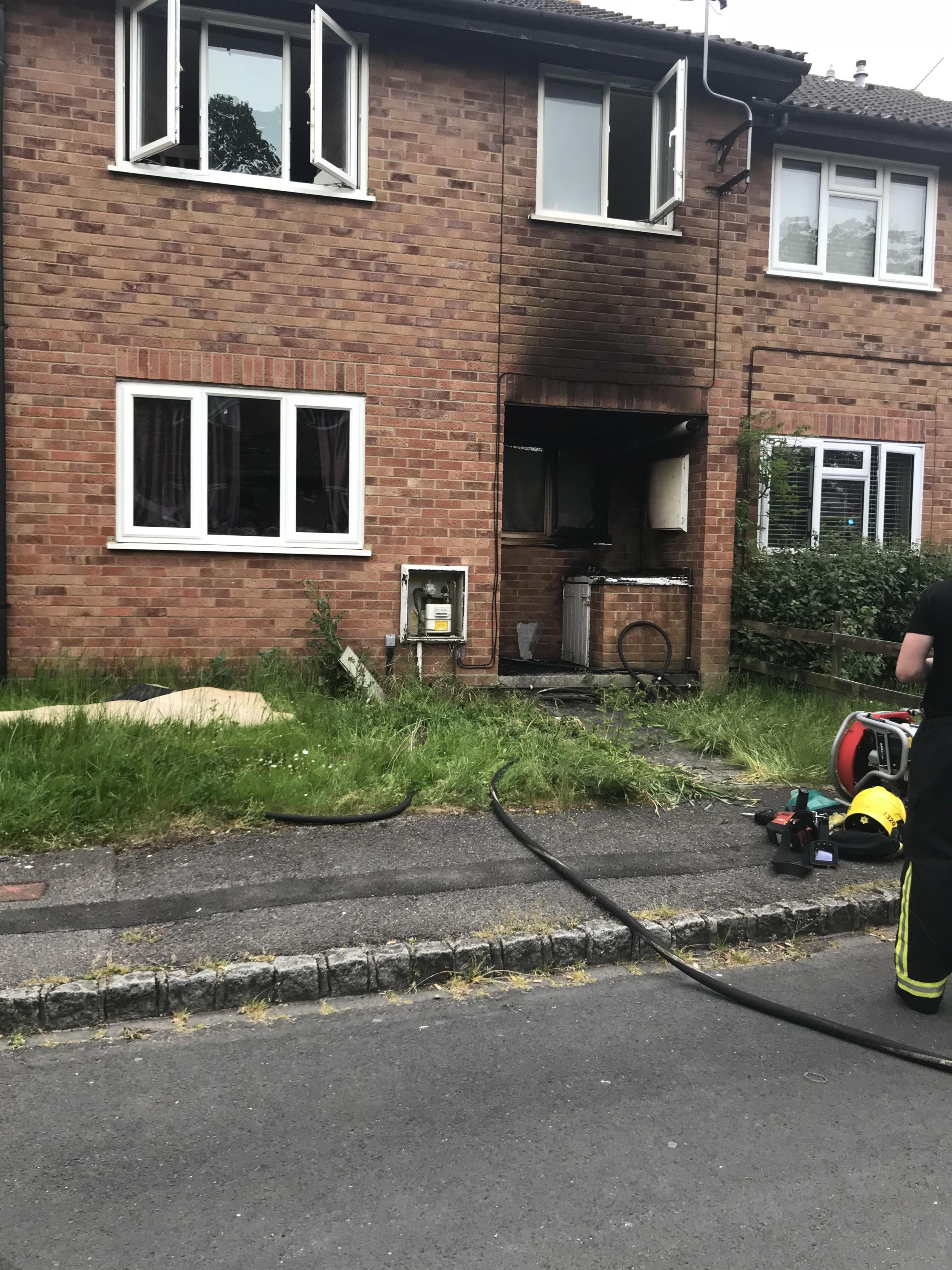 Discarded cigarette sets fire to building in Chineham
