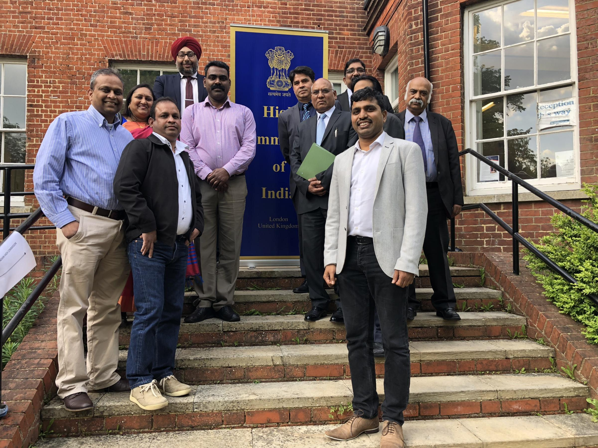 BMF members with the High Commission of India representatives