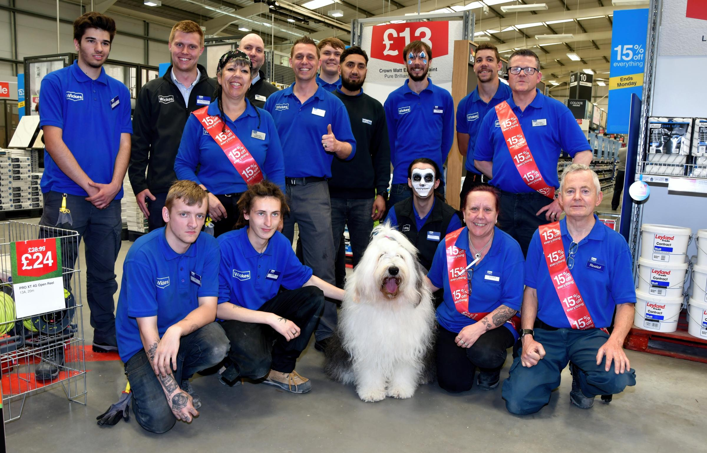 Dulux Dog The Guest At Reopening Of Wickes Store Basingstoke Gazette