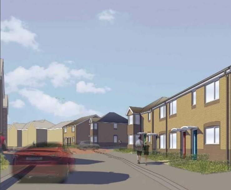 An artist impression of how the development might look