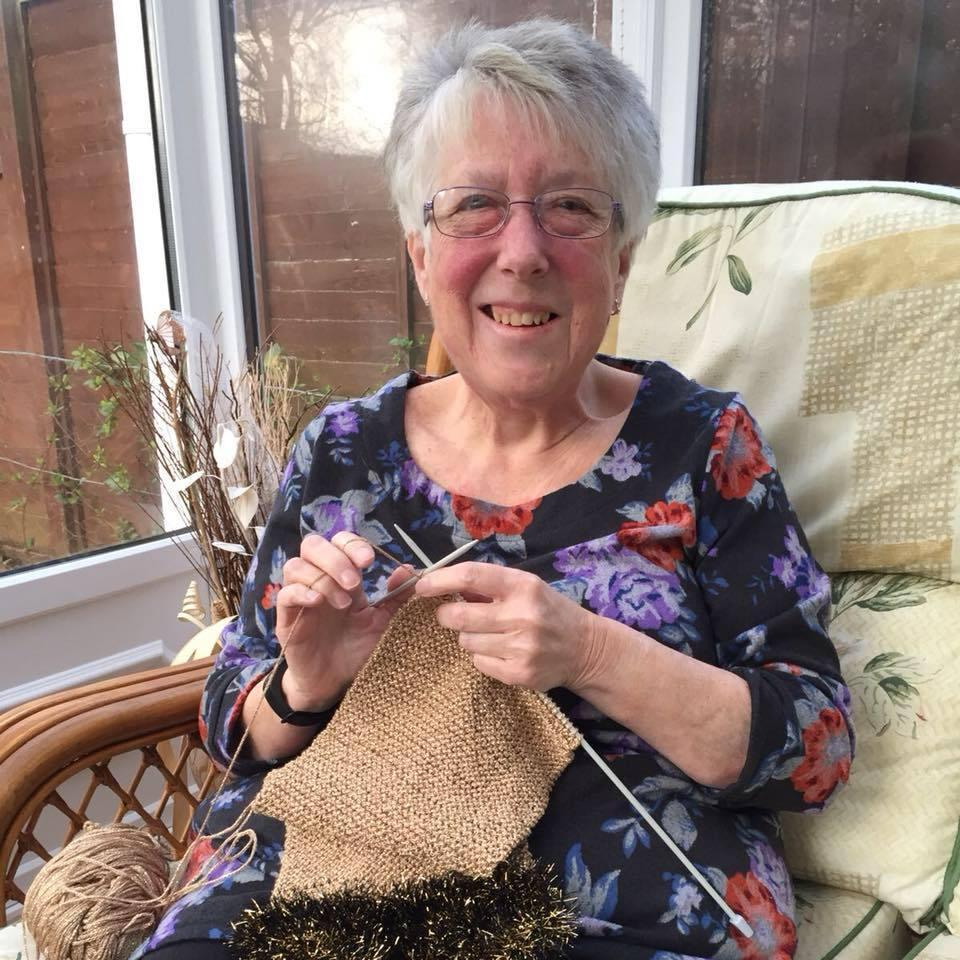 Brenda Meakin makes 70 scarves in 70th year to raise money