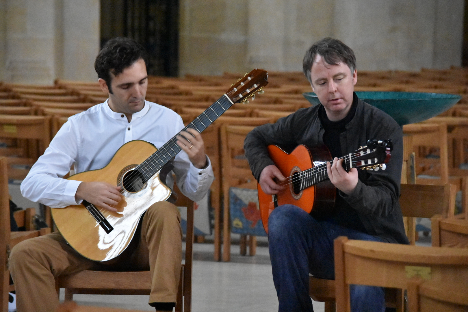 Take a musical journey with esteemed musicians Georgio Serci, left, and Jonny Phillips, right