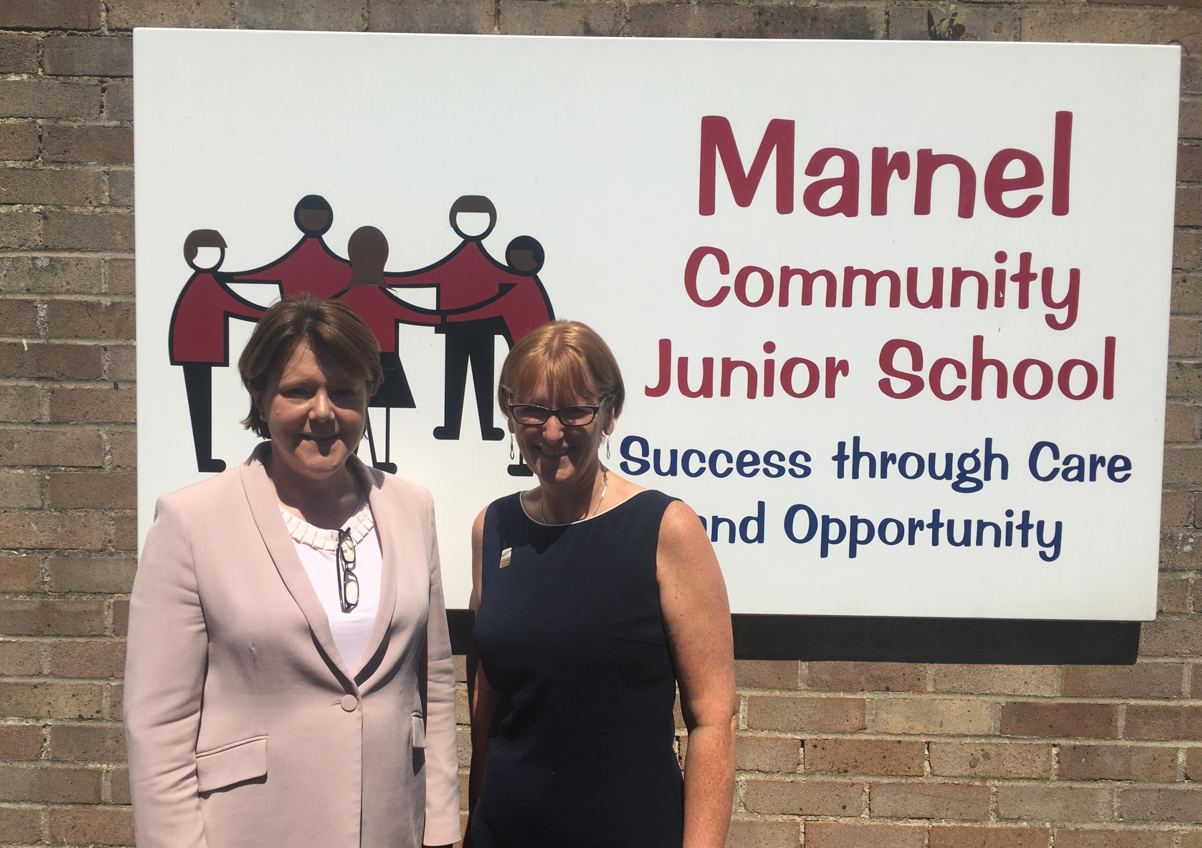 Maria Miller with Jackie Roberts