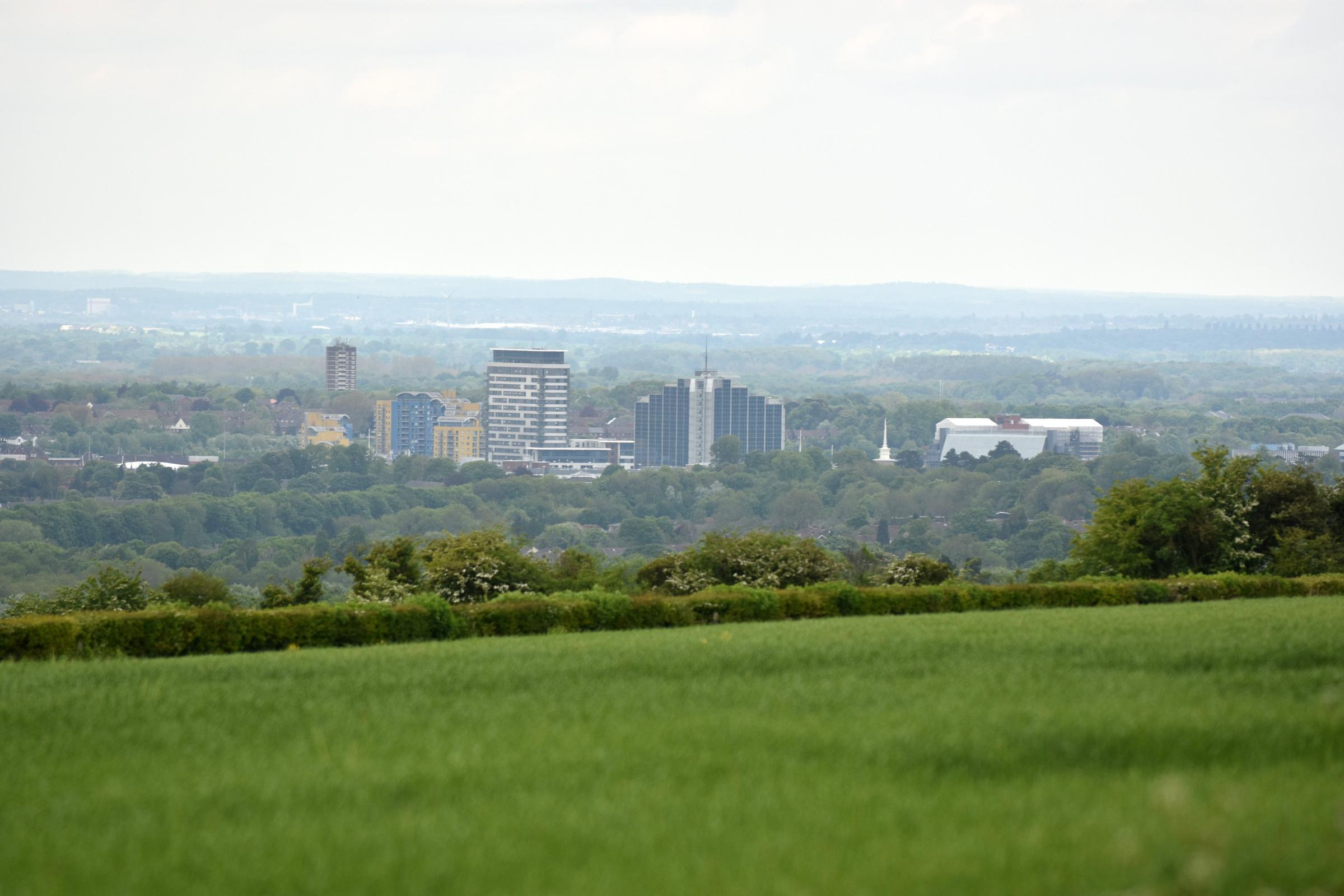 Basingstoke views 2016 May.View of the townPhotograph By: Sean Dillow.www.TheBigCheesePhotography.co.uk