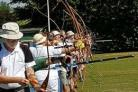 Archers celebrating the clubs birthday by shooting - By Arron Williams