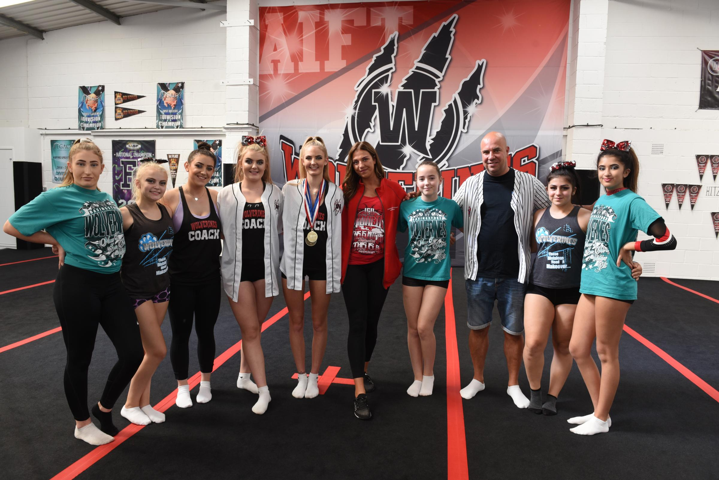 New Cheer Academy. Daneshill Central, Armstrong Road, Basingstoke. Basingstoke Wolverines Cheer Academy opening its new gym with BCD (British Cheer Dad) cutting the ribbon.