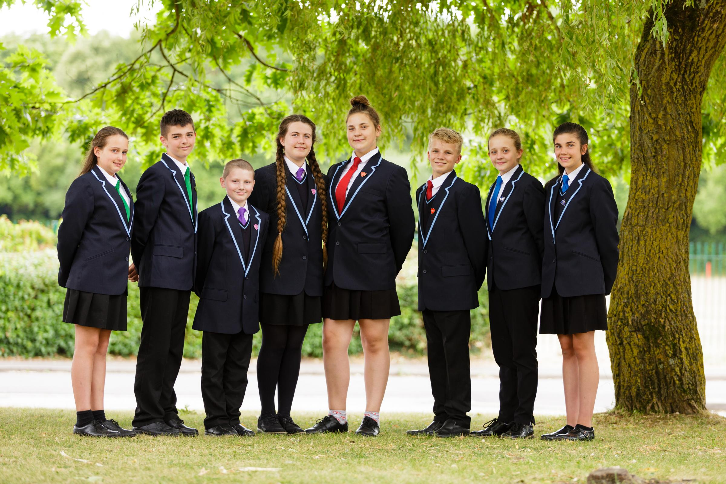 House captains and deputy captains in the new uniform, Jonny Back Photography