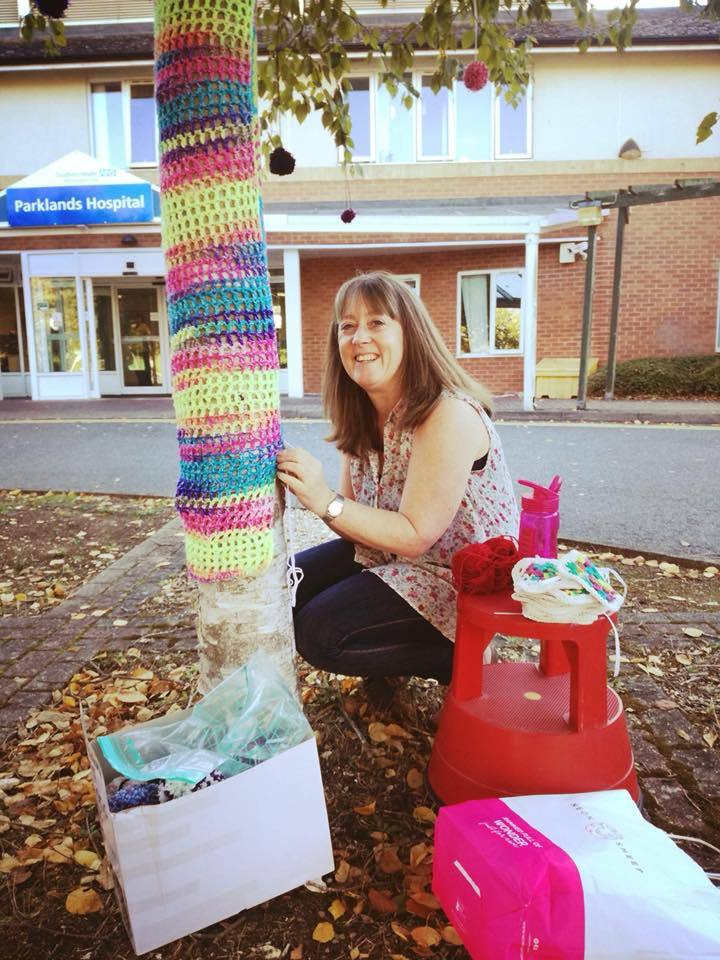 Yarn bomibing at Parklands Hospital