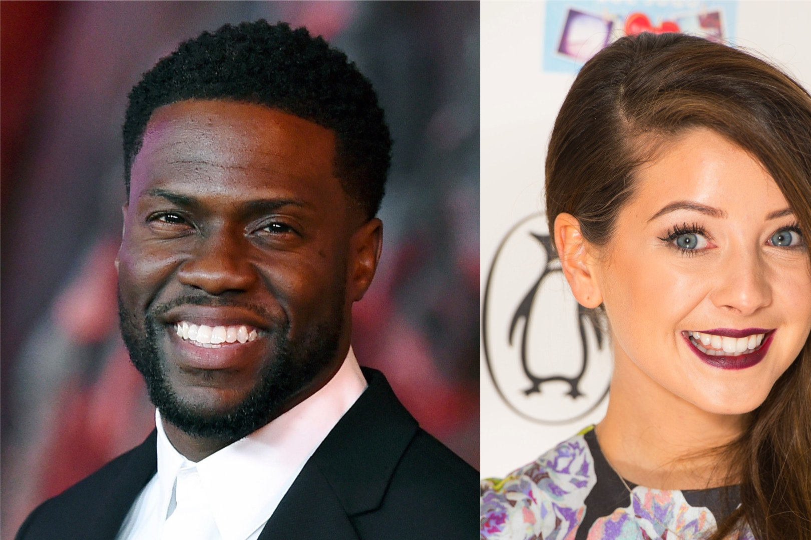 Kevin Hart and Zoella (PA)
