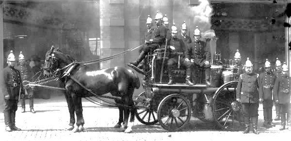 Horse drawn fire tender