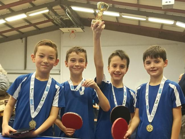 The victorious St John's Church of England Primary School team