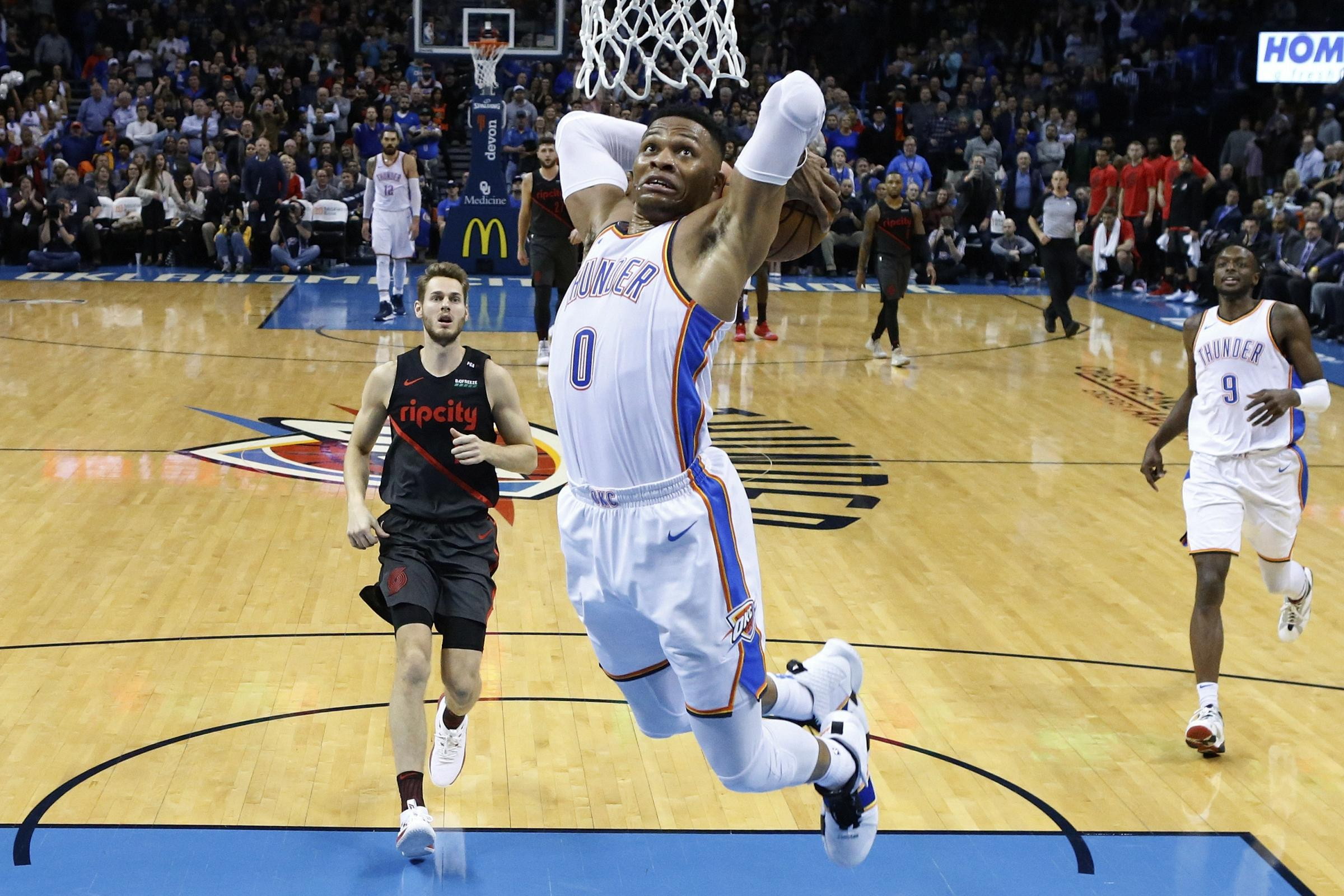 Russell Westbrook shone for Oklahoma City Thunder