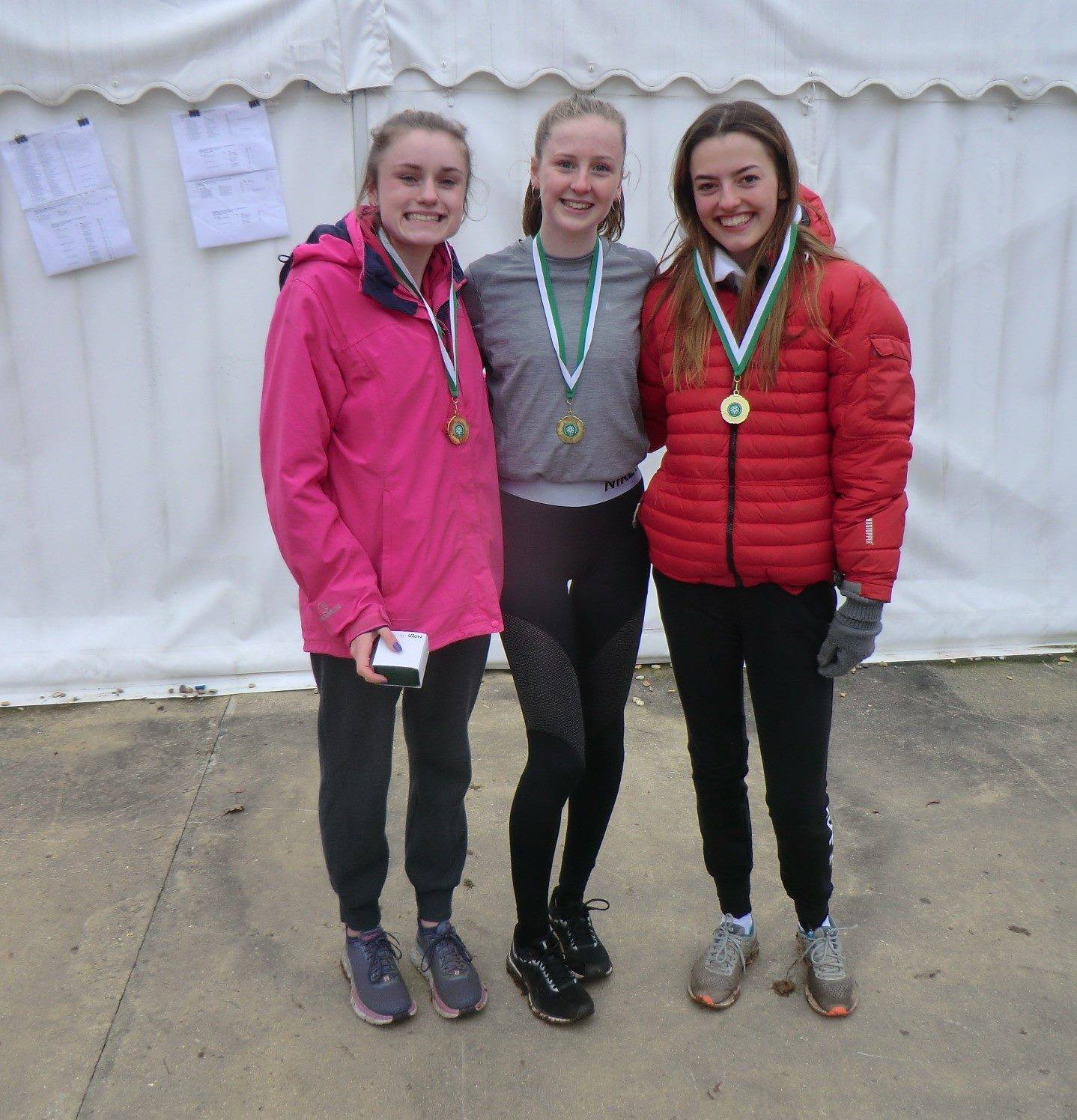 Under-20 women Maddie Deadman Rebecca Bullock and Macy Watson